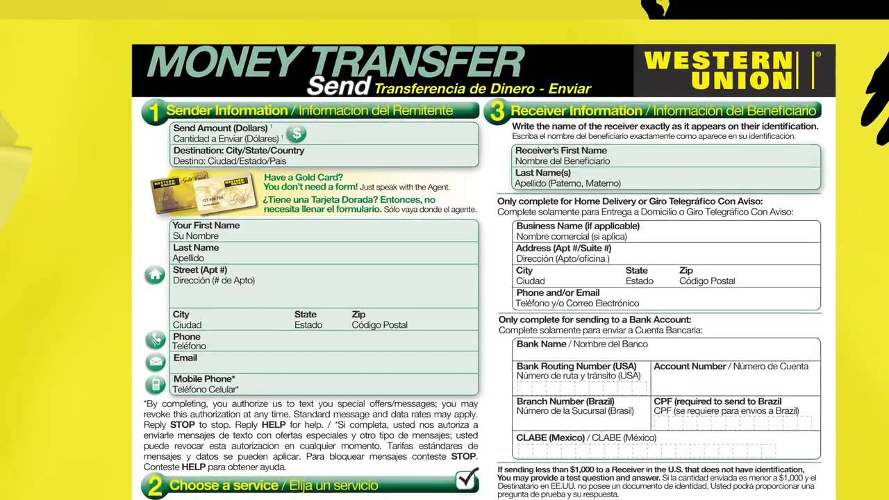 How to Send Money in Person with Western Union - YouTube