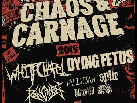 Whitechapel and Dying Fetus 'Chaos & Carnage Tour' w/ Revocation, Fallujah, Spite and more!