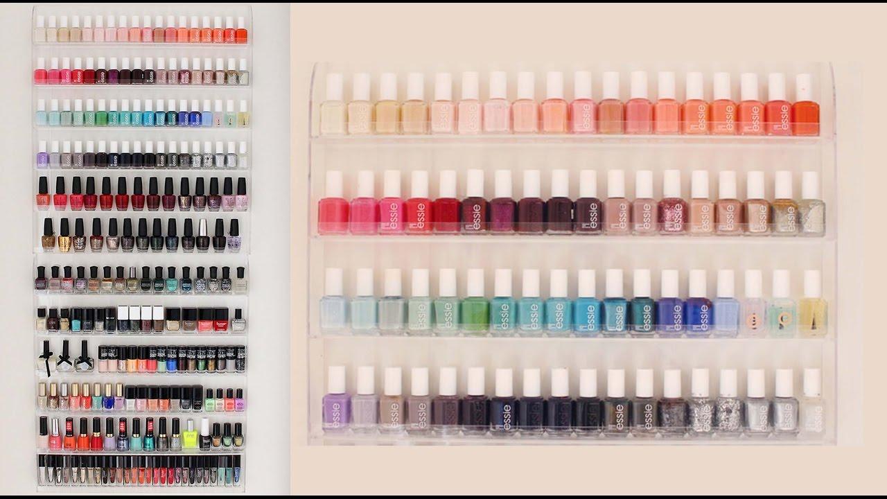 DIY Nail Polish Organizer | Room Inspiration - YouTube
