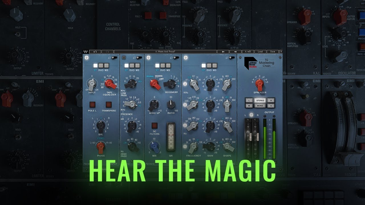 Waves Abbey Road TG Mastering Chain - Toolfarm