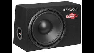 1200 WATS SUBWOOFER!! INCREDIBLE Kenwood ksc-w1200b (MAX VOLUME)