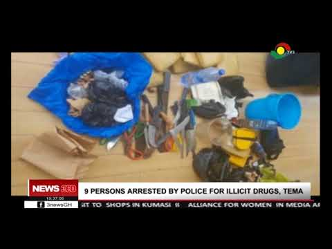 9 persons arrested by police in Tema for illicit drugs