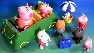 Drive Peppa Pig To A Beach Party For Picnic With Holiday Sunshine Car George Nickelodeon Pique-nique