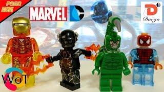 Лего Зум, Скорпион, прозрачные Человек Паук и Железный Человек из Китая