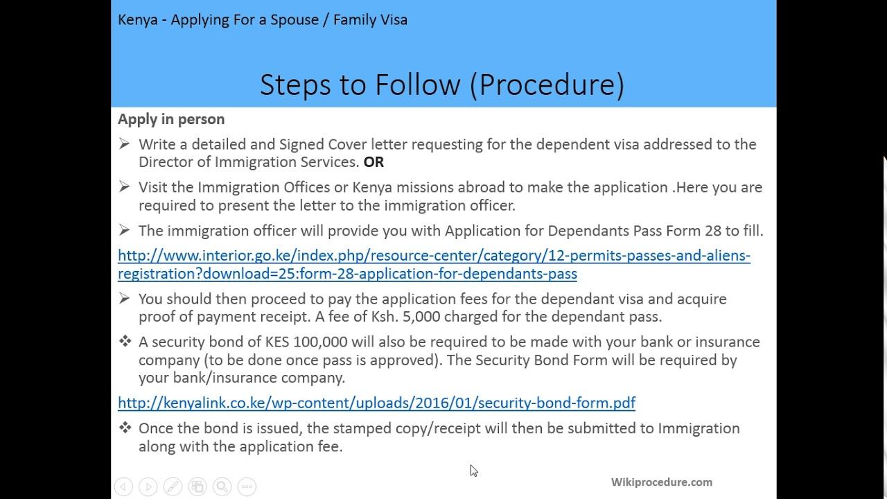 Kenya - Applying For a Spouse/Family Visa