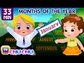 Months of the Year Song - January, February, March - Original Nursery Rhymes for Kids by ChuChu TV - JugniTV