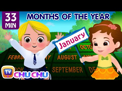 Thumbnail: Months of the Year Song - January, February, March - Original Nursery Rhymes for Kids by ChuChu TV