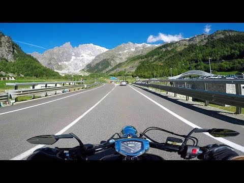 Ride to Mont Blanc & on the SkyWay Monte Bianco - Alps - Valle d'Aosta, Italy - road SS 26dir