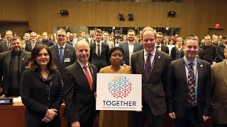 At UN, hundreds of students join 'Together' to support refugees thumbnail