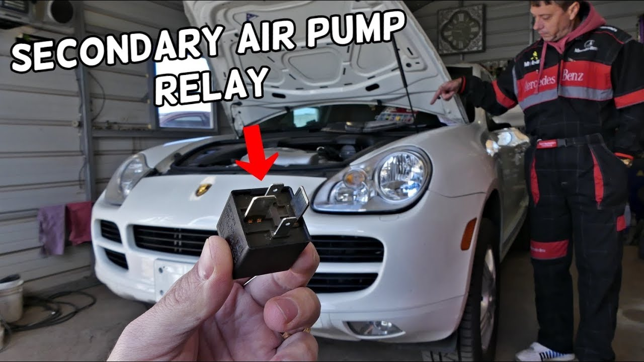 porsche cayenne secondary air pump code relay location replacement youtube