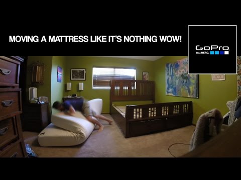 #GoPro: Moving A KING SIZE Mattress AND Frame...BY MYSELF