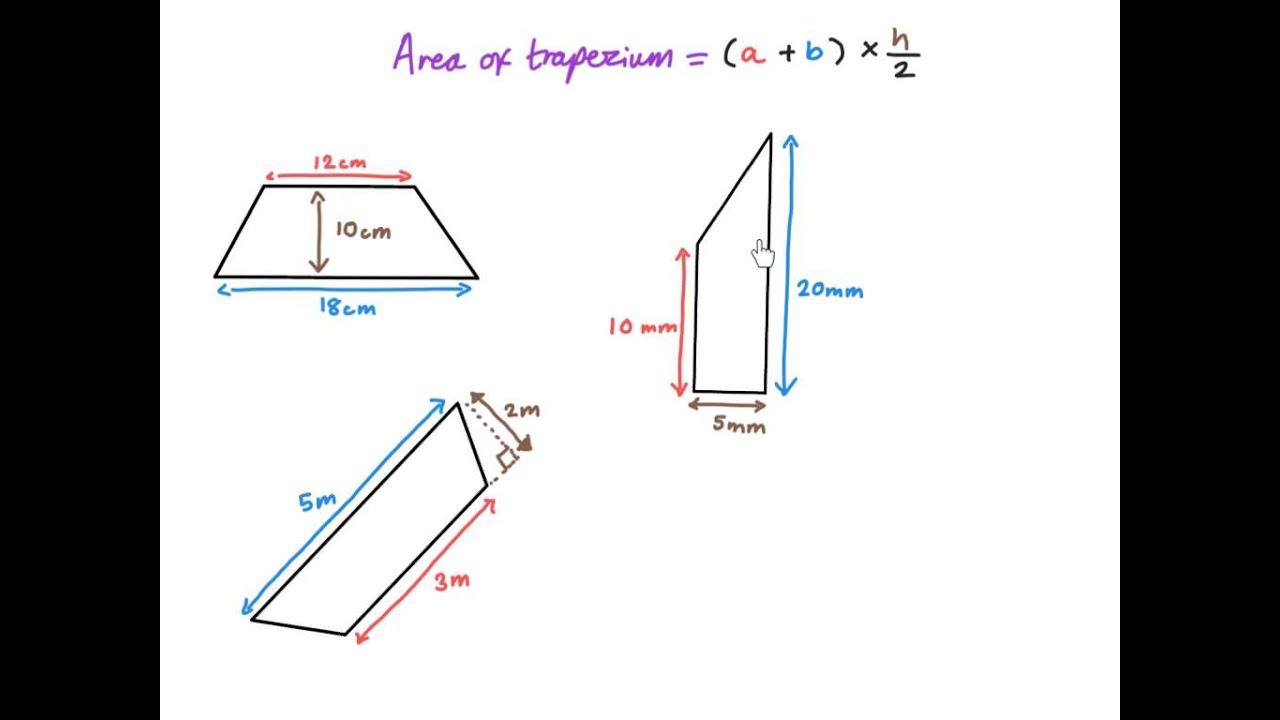 Area Of A Trapezium Ks2 Maths