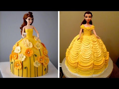 Top 10 Beautiful Princess Cake Decorating Ideas   Simple Barbie Doll Cake Decoration Tutorial #5
