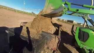 Loading homemade dump trailer- 2000 Toyota Tundra TRD, John Deere 5055D,GoPro Hero 3