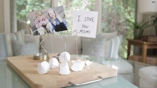 Mother's Day Gift Idea! How To Make A Clay Gemstone Photo Holder