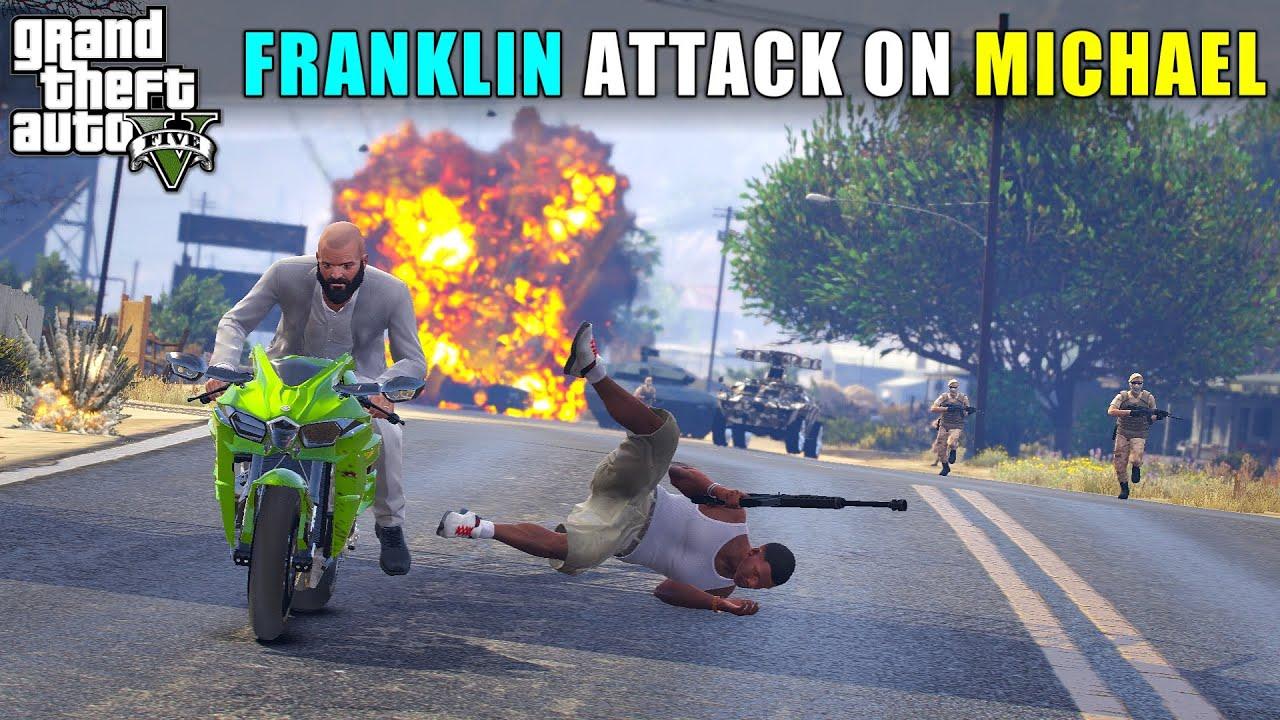 MICHAEL ATTACK ON FRANKLIN | GTA V GAMEPLAY