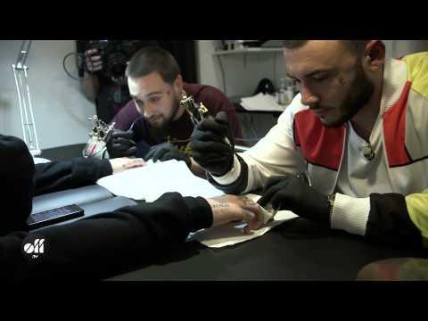 Mac Miller gets a new tattoo in Paris @ L'Encrerie
