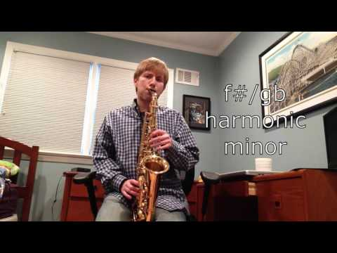 All Harmonic Minor Scales on Alto Saxophone and Arpeggios