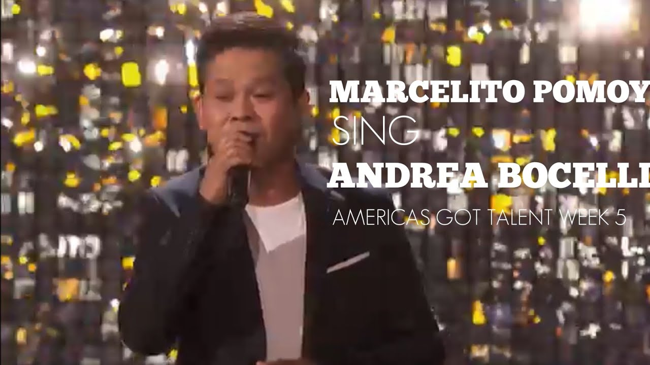 Marcelito Pomoy Semi-Finals sing Andrea Bocelli Time To Say Goodbye AGT week 5
