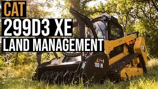 Cat 299D3 XE Land Management CTL built for heavy brush cutting, mulching and mowing