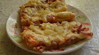 Пицца Гавайская рецепт с курицей и ананасами