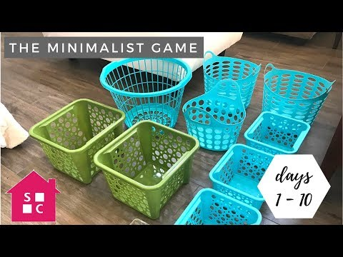 The Minimalist Game 2018 | Declutter with Me {Days 1 - 10}