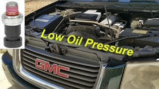 Diagnosing Envoy Low Oil Pressure