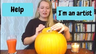 I HOPE I DONT DIE! PUMPKIN CARVING DIY