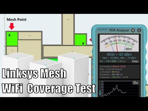 LINKSYS Velop AC6600 Mesh Router - Speed and Coverage Test