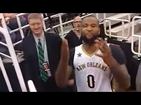 """DeMarcus Cousins Tells Fan """"Sit Your Fat A** Down,"""" Gets FINED $50,000"""