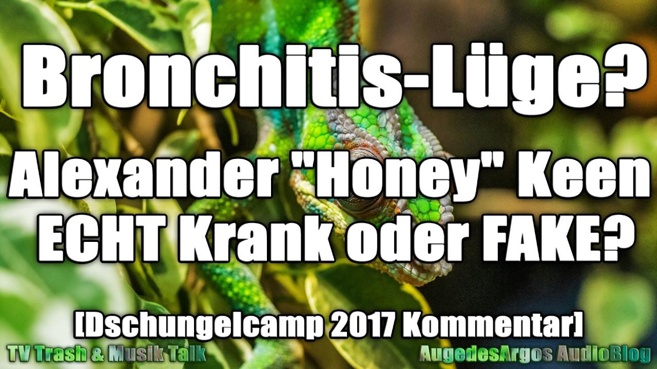 Bronchitis Luge Alexander Honey Keen Echt Krank Oder Fake Dschungelcamp 2017 Kommentar
