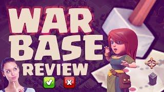 CLASH OF CLANS WAR BASE REVIEW! LE VOSTRE BASI GUERRA!