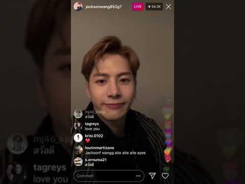 041218 Jackson Wang instagram live