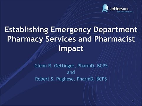 Establishing Emergency Department Pharmacy Services and Phar