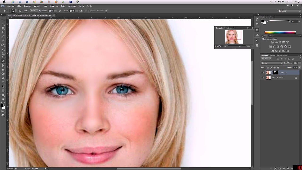 Photoshop Cs6 Como Deixar A Pele Perfeita Youtube