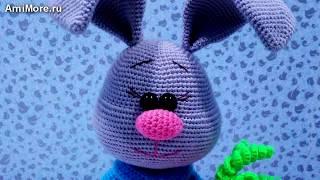 Амигуруми: схема Зайца Стёпки. Игрушки вязаные крючком. Free crochet patterns.