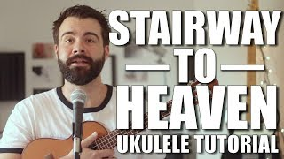 Stairway to Heaven - Led Zeppelin Ukulele tutorial with tabs - rock and roll music ukulele