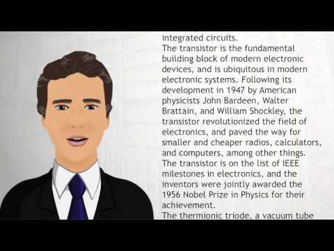 Transistor - Wiki Videos