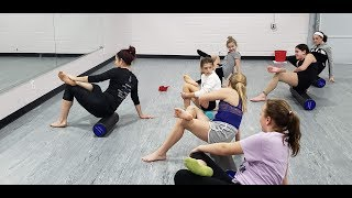 Dr. Maley Teaches Foam Rolling to PADA Students