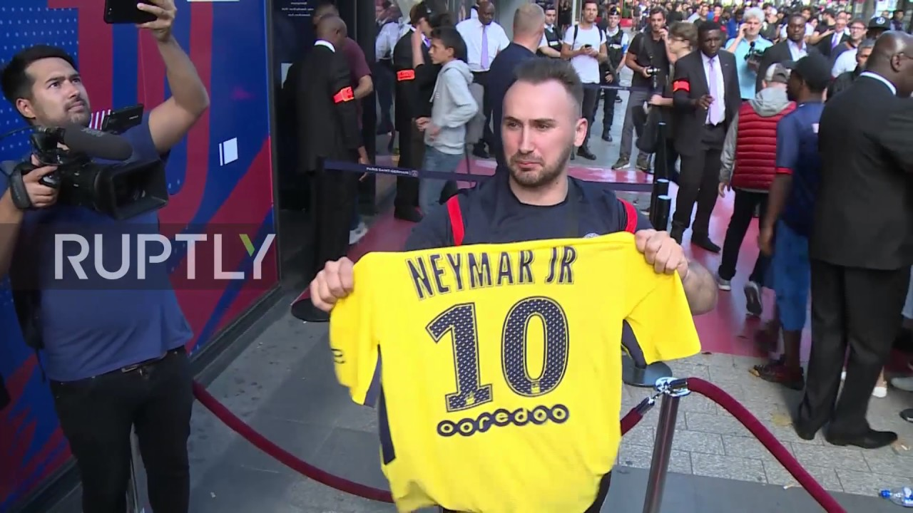 new style 52f7a 7778f France: Fans flock to snap up Neymar PSG jersey after world record €222m  transfer