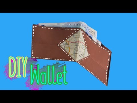DIY - Easy Paper Wallet - Paper Craft - Origami