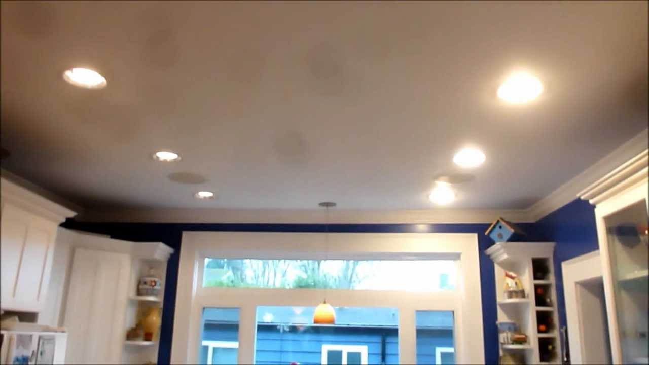 Kitchen Ceiling Led Lighting Kitchen Can Light Led Retrofit Comparision Youtube