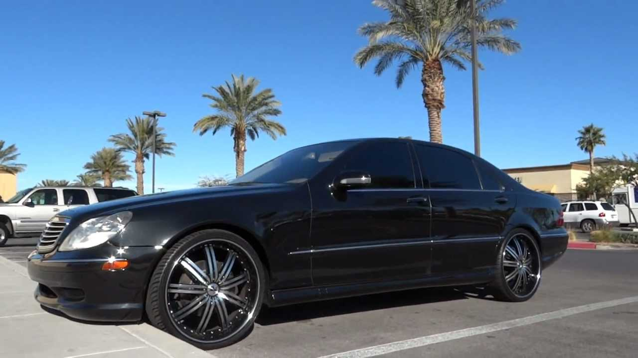2005 Mercedes S500 W 22 Inch 3 Piece Rims Youtube