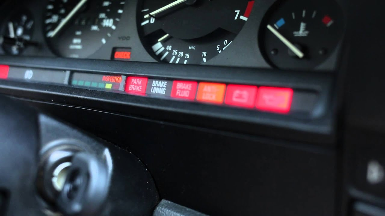 e30 service interval and inspection light reset [ 1280 x 720 Pixel ]