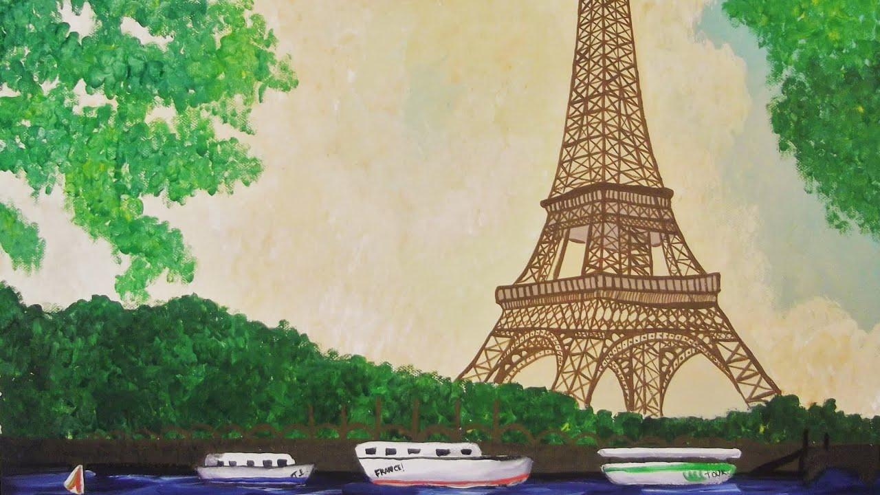 Painting Eiffel Tower Misspopitas