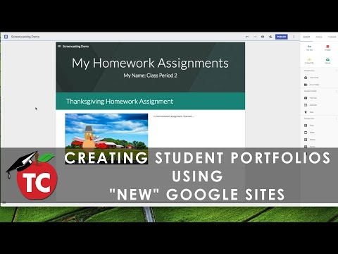 How To Use the NEW Google Sites for Student Portfolios - YouTube