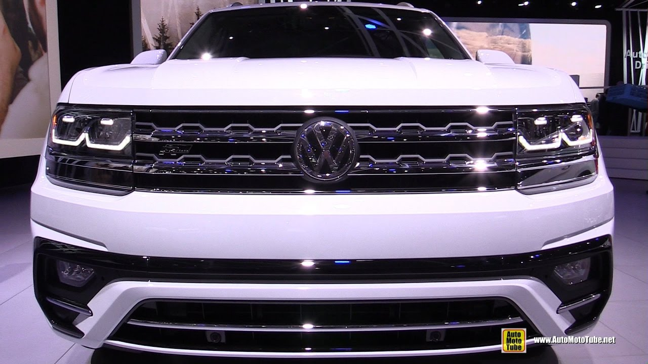 2018 Volkswagen Atlas R Line Exterior And Interior Walkaround 2017 Detroit Auto Show You