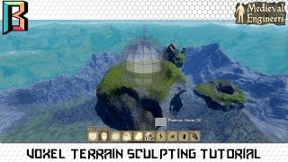 Voxel Terrain Sculpting Tutorial Sky Island Medieval Engineers