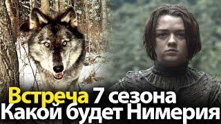 Какой будет Нимерия (лютоволк Арьи) в 7 сезоне Игры престолов? Долгожданная встреча