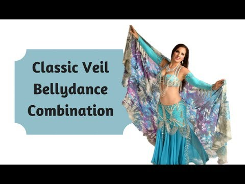 Classic Belly Dance Veil Combo
